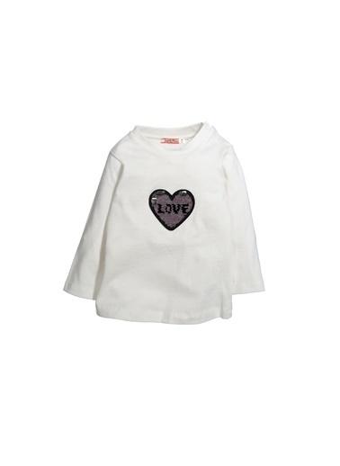Zeyland Pullu Love Bluz (12ay-4yaş) Pullu Love Bluz (12ay-4yaş) Ekru